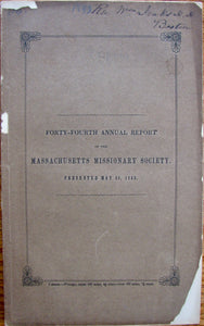 Forty-fourth Annual Report of the Massachusetts Missionary Society [Report on Revivals]