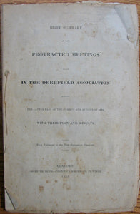 Protracted Meetings of the Deerfield Association, 1834 New Hampshire Revivals
