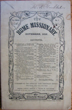 Load image into Gallery viewer, The Home Missionary, November, 1858