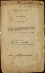 Arnold, Strictures on a Sermon entitled An Account of the Revival in Jerusalem