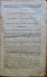Moore, J. Hamilton. The Young Gentleman and Lady's Monitor, and English Teacher's Assistant (1802)