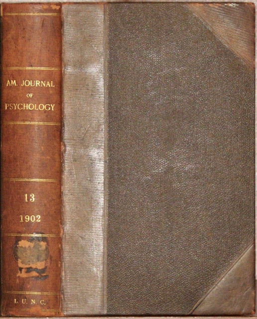 American Journal of Psychology: An Historical Study of the Edwardean Revivals 1902