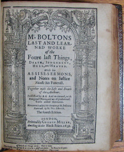 Bolton, Robert. The Workes of the reverend Robert Bolton 1638-40
