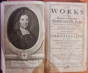 Scott, John. The Works of the Reverend and Learned John Scott, D. D., 2 vol. set 1718