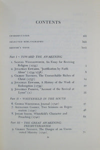 Heimert, Alan; Miller, Perry. The Great Awakening: Documents Illustrating the Crisis and Its Consequences