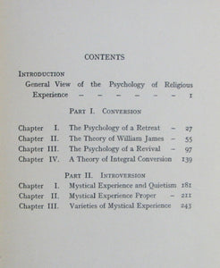 Howley, John.  Psychology and Mystical Experience 1920