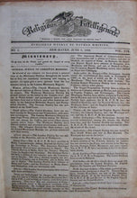 Load image into Gallery viewer, Whiting, Nathan [editor]. The Religious Intelligencer for the year commencing June, 1834