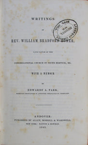 Homer, Writings of Rev. William Bradford Homer, late pastor of the Congregational Church in South Berwick, Me