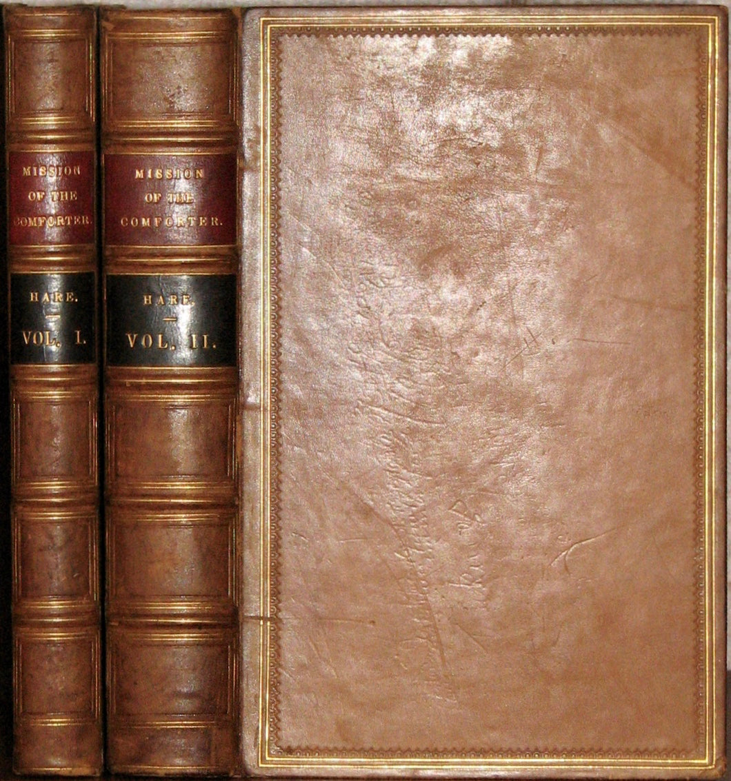 Hare, Julius Charles. The Mission of the Comforter and other Sermons, with Notes. 2 volume set (fine bindings)