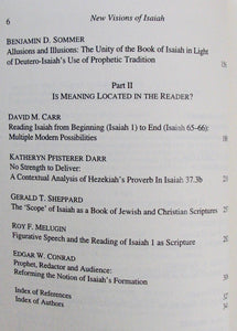 Melugin, Roy F.; Sweeney, Marvin A. [editors]. New Visions of Isaiah