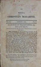 Load image into Gallery viewer, Davis, Cornelius. The Utica Christian Magazine, designed to prompt the spirit of research, and diffuse religious instruction. Vol. I.