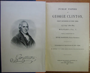 Clinton, George. Public Papers of George Clinton, First Governor of New York, 1777-1795, 1801-1804. 10 volume set