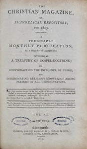 A Society of Ministers. The Christian Magazine; or, Evangelical Repository for 1803