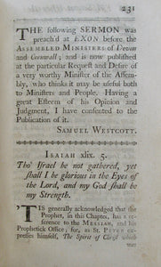 Westcott, Samuel. Several Discourses On the following Subjects: Of remembering God our Creator in Youth...&c.