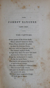 Coffinberry, Andrew. The Forest Rangers: A Poetic Tale of the Western Wilderness in 1794
