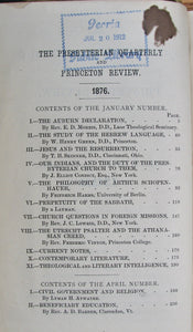 Atwater, Lyman H.; Smith, Henry B.  The Presbyterian Quarterly and Princeton Review. New Series Vol. V