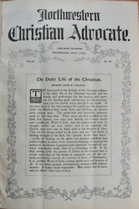 Northwestern Christian Advocate, Vol. 51, July 1, 1903 - December 30, 1903. 52 issues bound