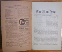 Load image into Gallery viewer, Blinn, C. Henry. The Manifesto. Vol. XXII. February, 1892 [Shaker]