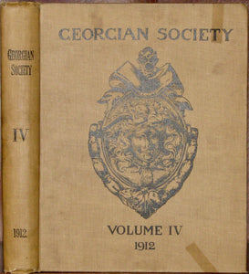 The Georgian Society: Records of Eighteenth-Century Domestic Architecture and Decoration in Dublin. Volume IV