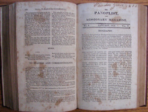 [Morse, Jedidiah]. The Panoplist, and Missionary Magazine, for the year ending June 1, 1813. Volume V. New Series