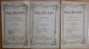 Things New & Old, A Gospel Magazine, with Papers for the Flock of God.