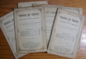 Words of Truth, Eccl. xii. 10. A Monthly Periodical for the Spread of Scriptural Truth (8 issues)