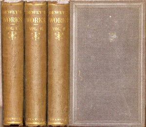 Dewey, Orville. Discourses on Human Nature, Human Life, and the Nature of Religion (3 volume set