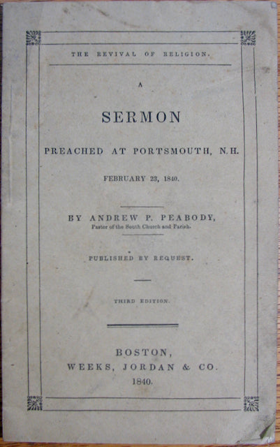 Peabody, Andrew. The Revival of Religion (1840)