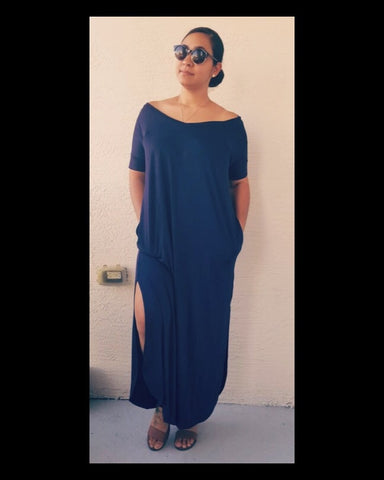 True Navy Maxi Dress