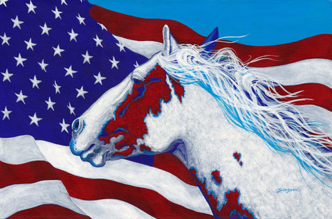 American Spirit - signed limited edition print by Cynthia Sampson- 10% from each sale donated to AWHC