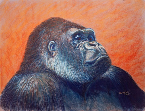 Ambassador Gorilla - signed limited edition print by Cynthia Sampson