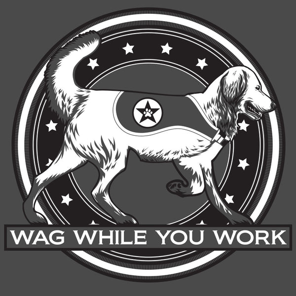 Wag While You Work - Adult - Light Olive