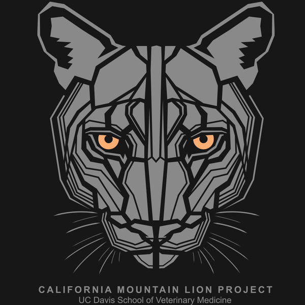 California Mountain Lion Project - Ladies Fitted V-Neck - Black