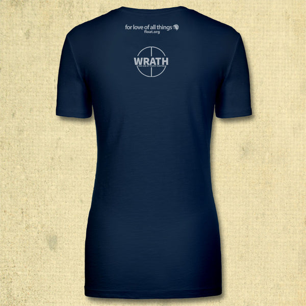 Not Your Trophy - Ladies Fitted V-Neck - Indigo