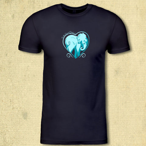 For the Love of Elephants - Adult - Midnight Navy