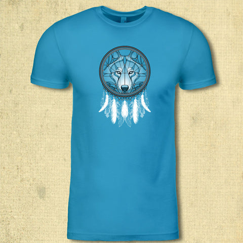 Dreamcatcher Wolf - Adult - Turquoise