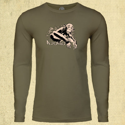 Ape Action Africa - Adult Long Sleeve - Military Green
