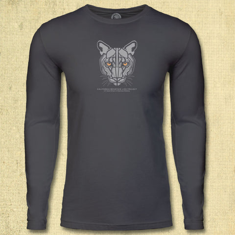 California Mountain Lion Project - Adult Long Sleeve - Heavy Metal