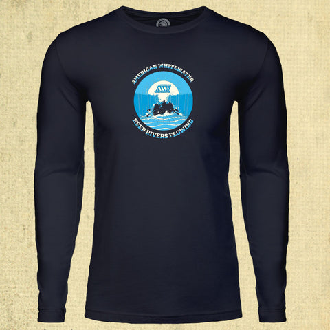 Keep Rivers Flowing - Adult Long Sleeve - Midnight Navy