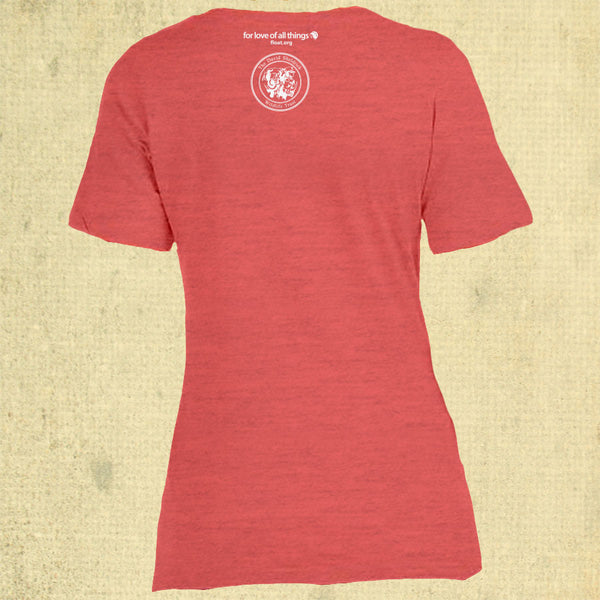 Trunk Love - Ladies V-neck - Red Triblend