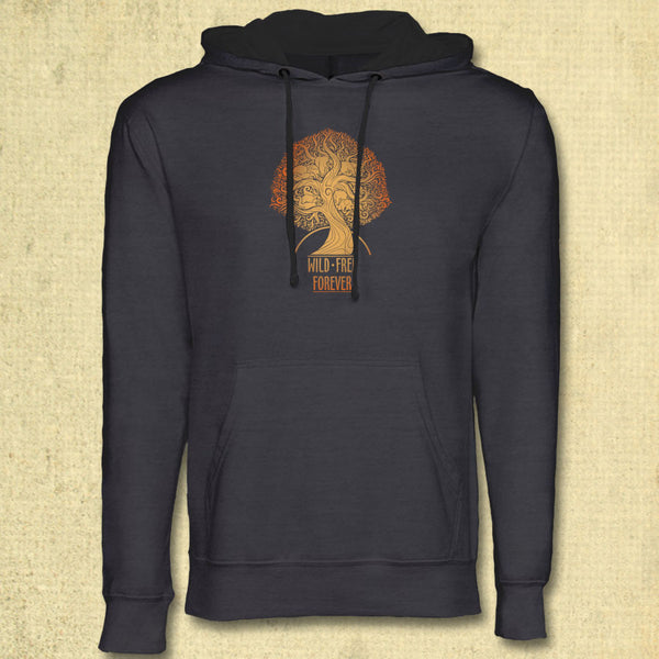 Wild & Free Forever - Midweight French Terry Pullover Hoody - Heavy Metal