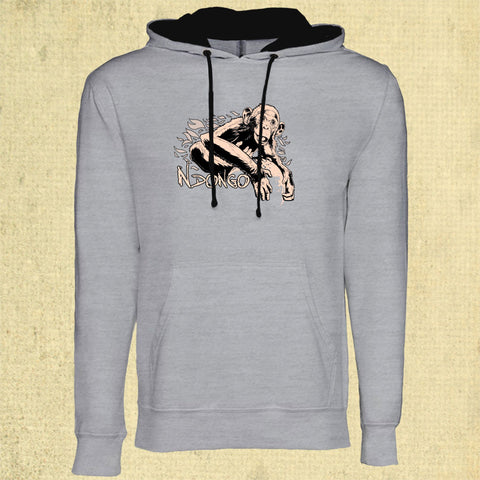 Ape Action Africa - Midweight French Terry Pullover Hoody - Heather Grey & Black