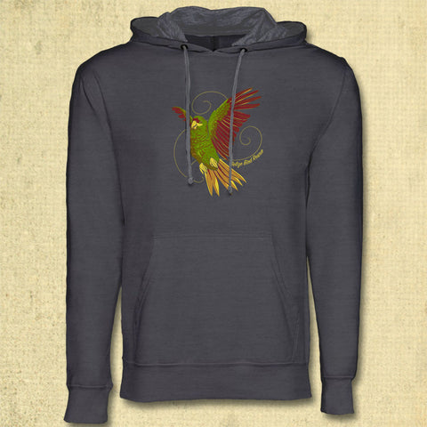 Belize Bird Rescue - Midweight French Terry Pullover Hoody - Heavy Metal