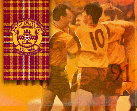 Official Motherwell FC Tartan Scarf