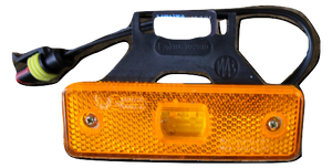 Compact amber LED side marker lamp with horizonal bracket & Female superseal waterproof connector  12/24V