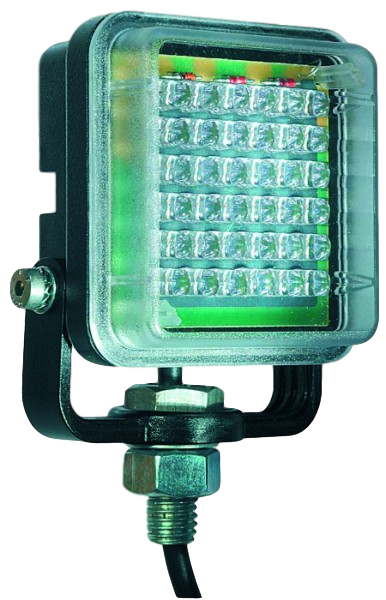 Square LED Flashing Beacon - Amber