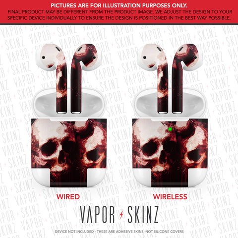 Blood Skulls APPLE AIRPODS Skin