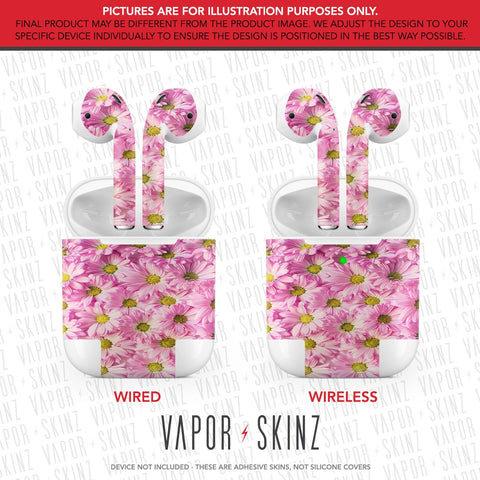 Pink Daisies APPLE AIRPODS Skin