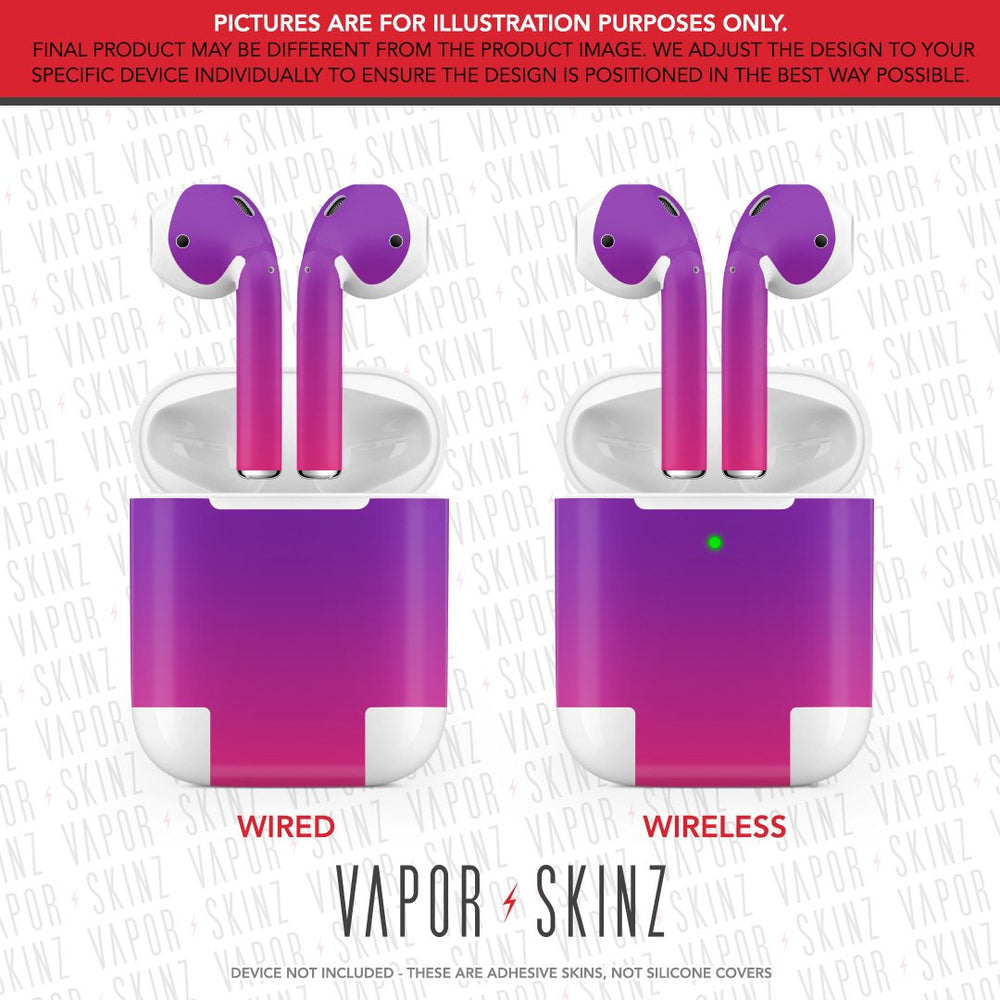 Purple Pink Ombre APPLE AIRPODS Skin