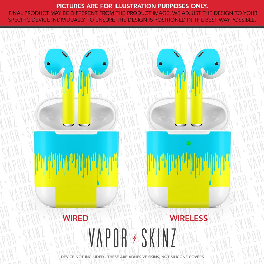 Yellow Blue Drip APPLE AIRPODS Skin